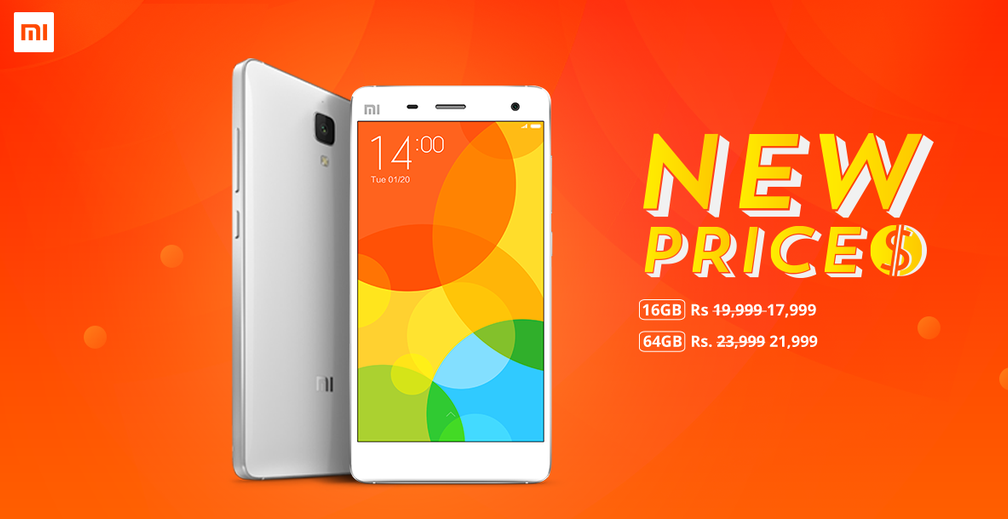 MI4 priced slashed by Rs 2000 permanently