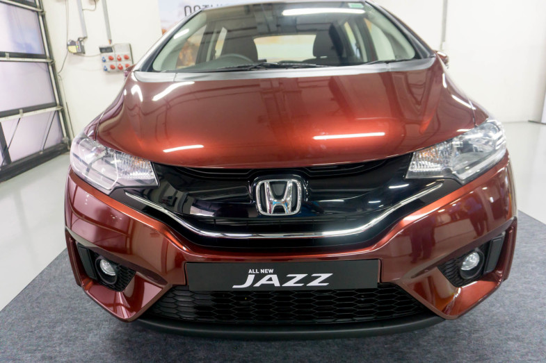 Sharp lines define the design of Honda Jazz